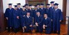 UA Mining 360 graduates in caps and gowns