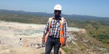 MGE alumnus Brian Njenga on the job. Photo courtesy of UA Career Services.