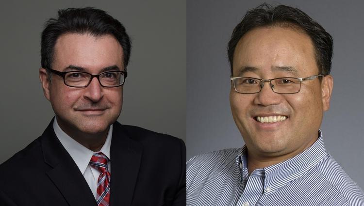 Interim MGE department head Moe Momayez and MGE associate professor Jaeheon Lee