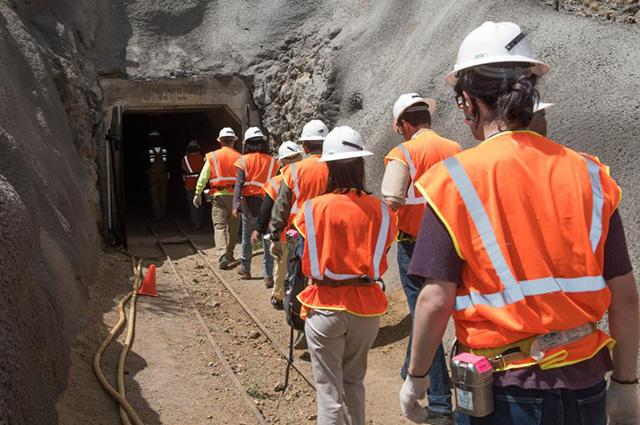 AZ Tech Council Members put on their hard hats and head underground. (Photo: Chris Mooney)