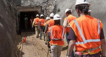 AZ Tech Council Members put on their hard hats and head underground. (Photo: Chris Mooney)